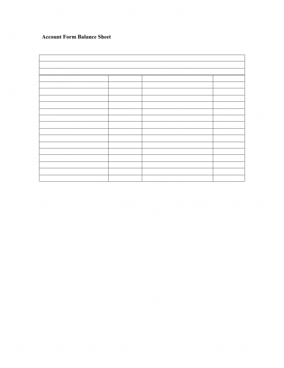 Nice Bank Balance Sheet Template Regard To Balance Sheet Blank