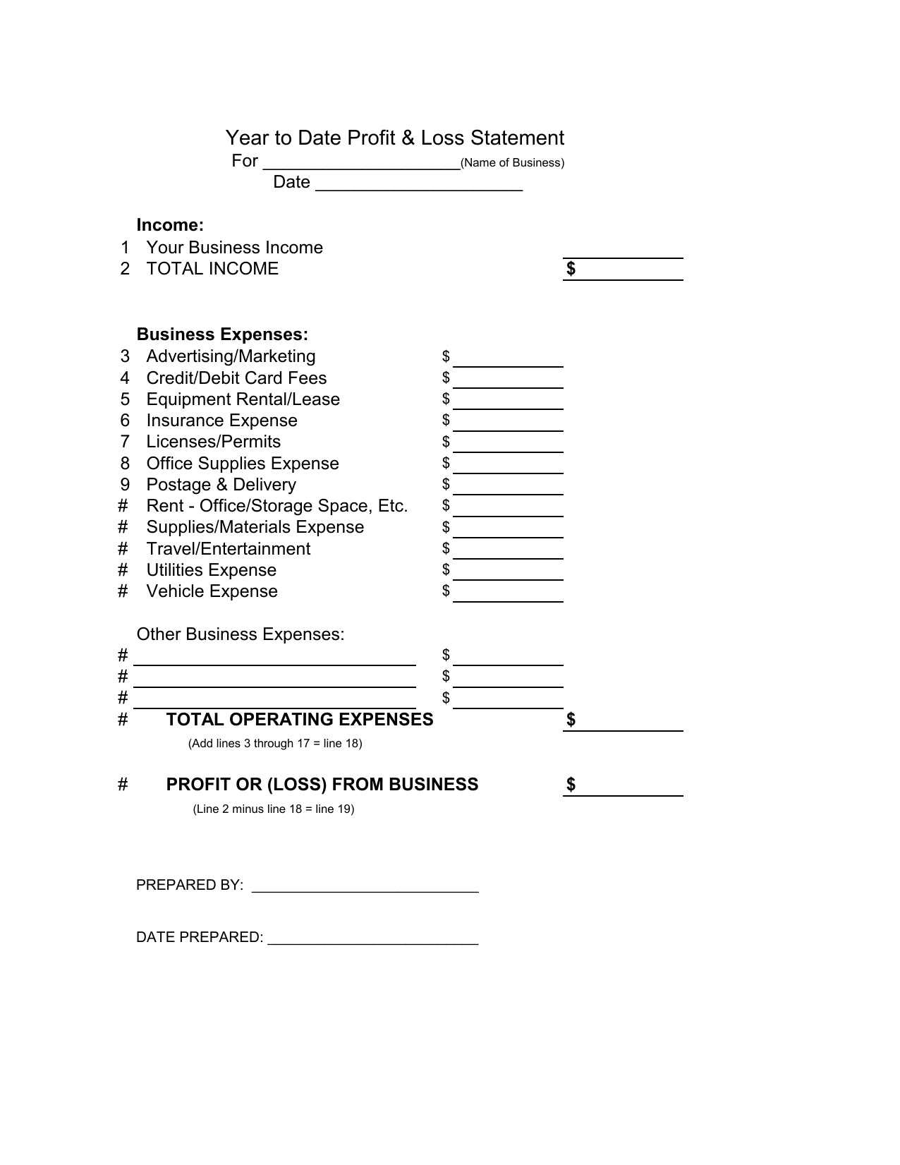 profit and loss balance sheet template