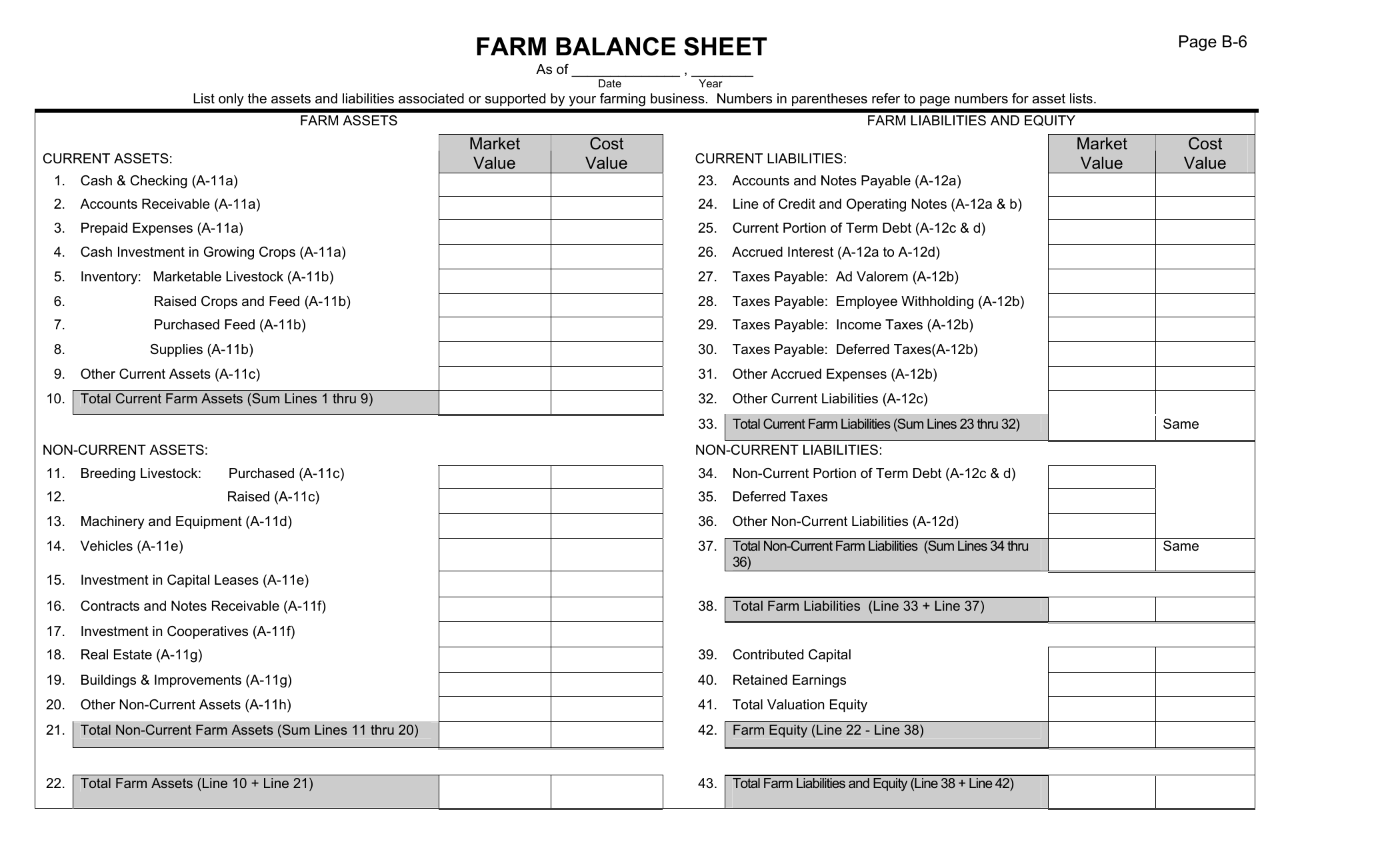 Download Farm Balance Sheet Template Excel PDF RTF Word
