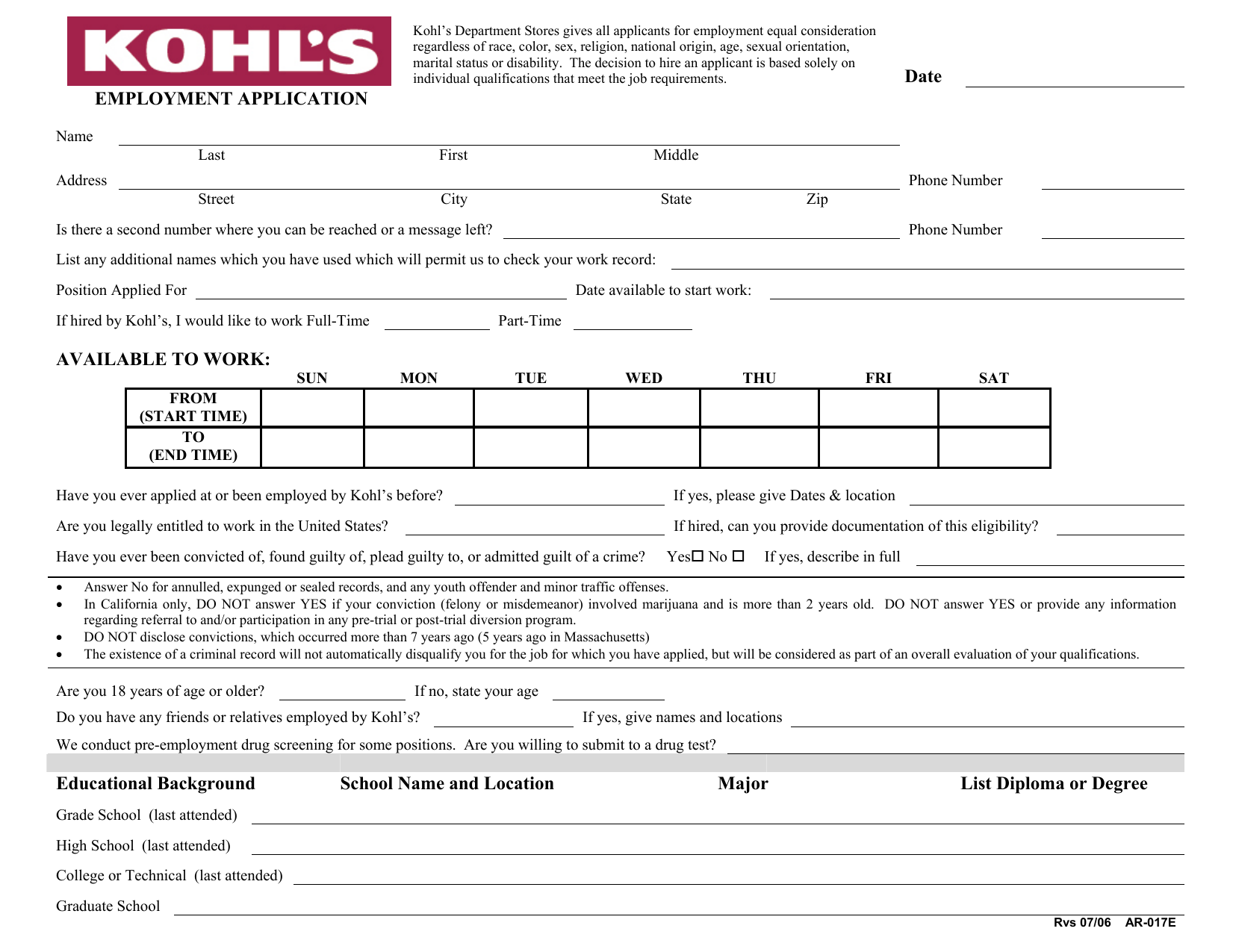 job application forms pdf