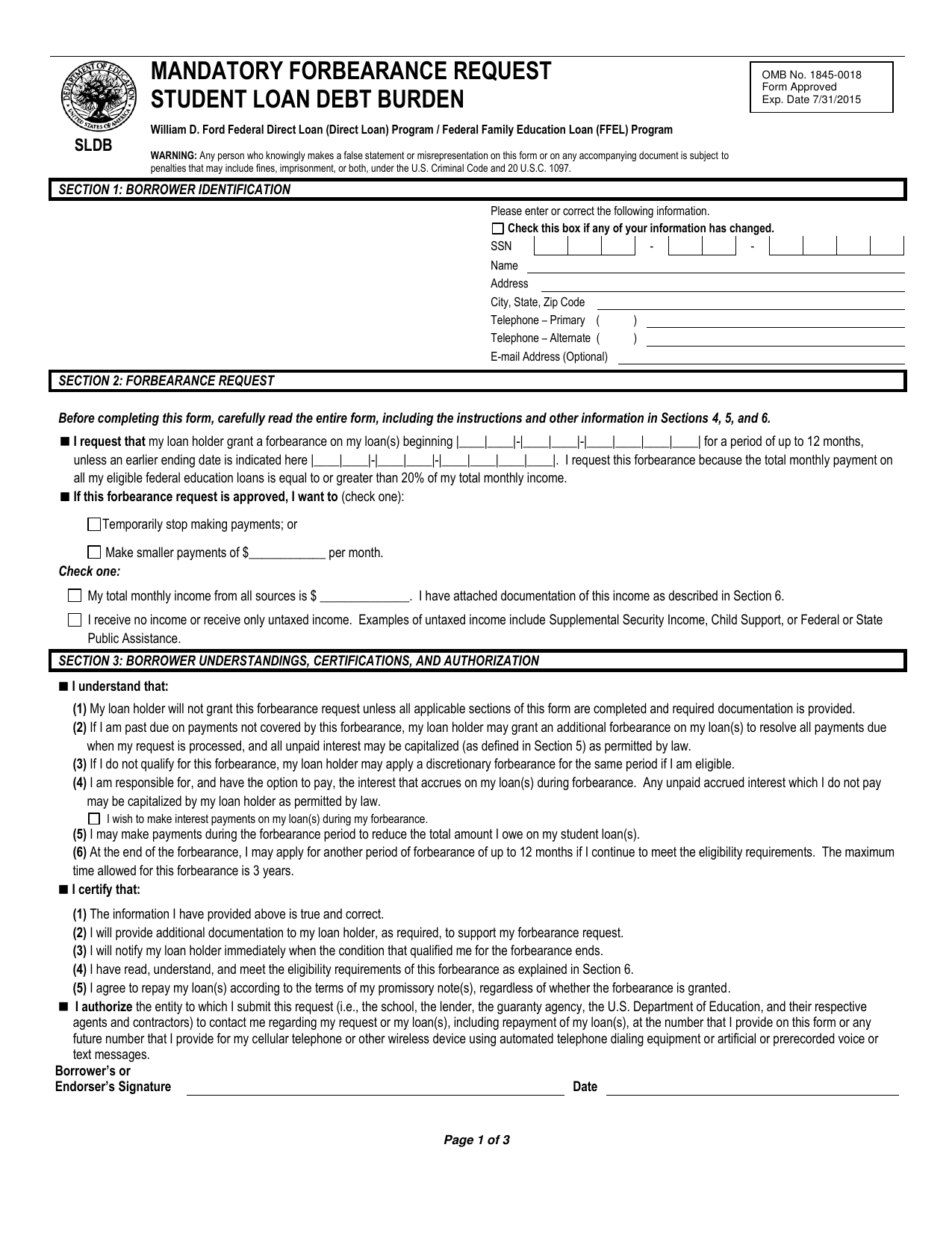 Download Forbearance Student Loan Agreement Template Pdf