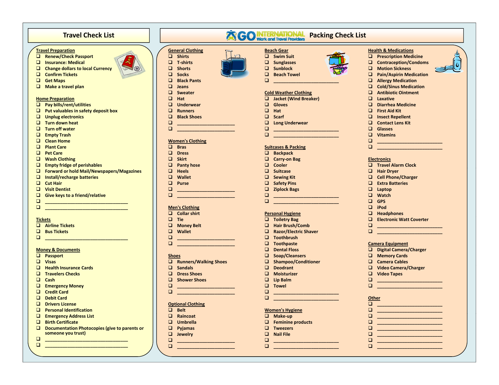 Download Packing Checklist Template Excel Pdf Rtf Word