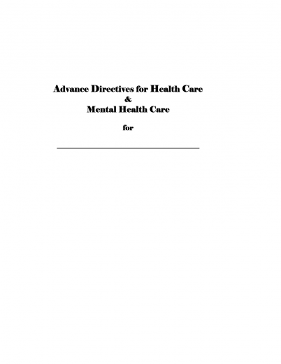Download Alaska Living Will Form Advance Directive – Living Will Form