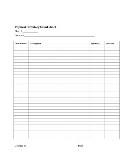 Inventory Checklist Template  Inventory Checklist Template