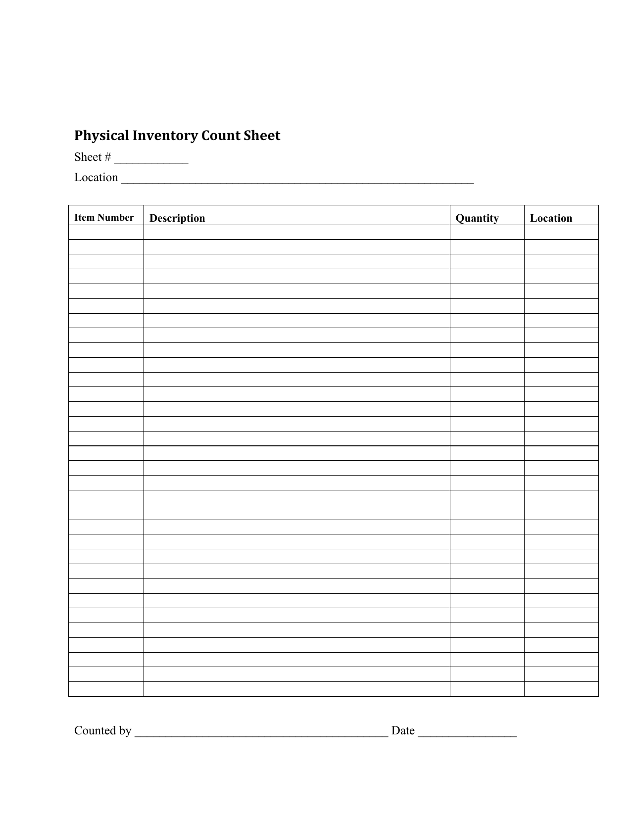 Download Inventory Checklist Template | Excel | PDF | RTF | Word ...