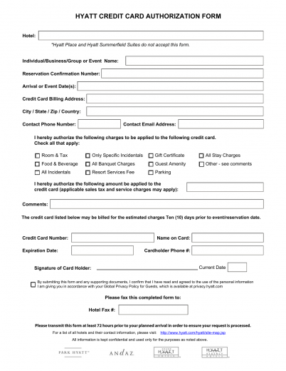 authorisation form template