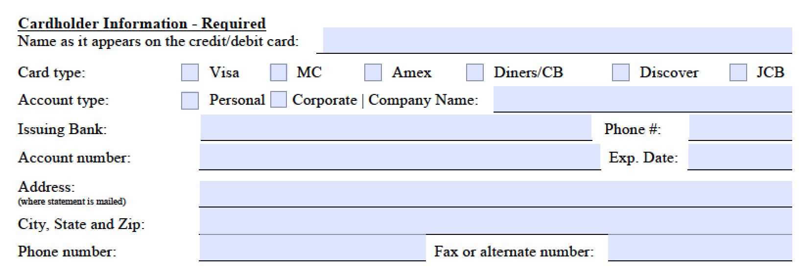 Download Marriott Credit Card Authorization Form Template | PDF ...