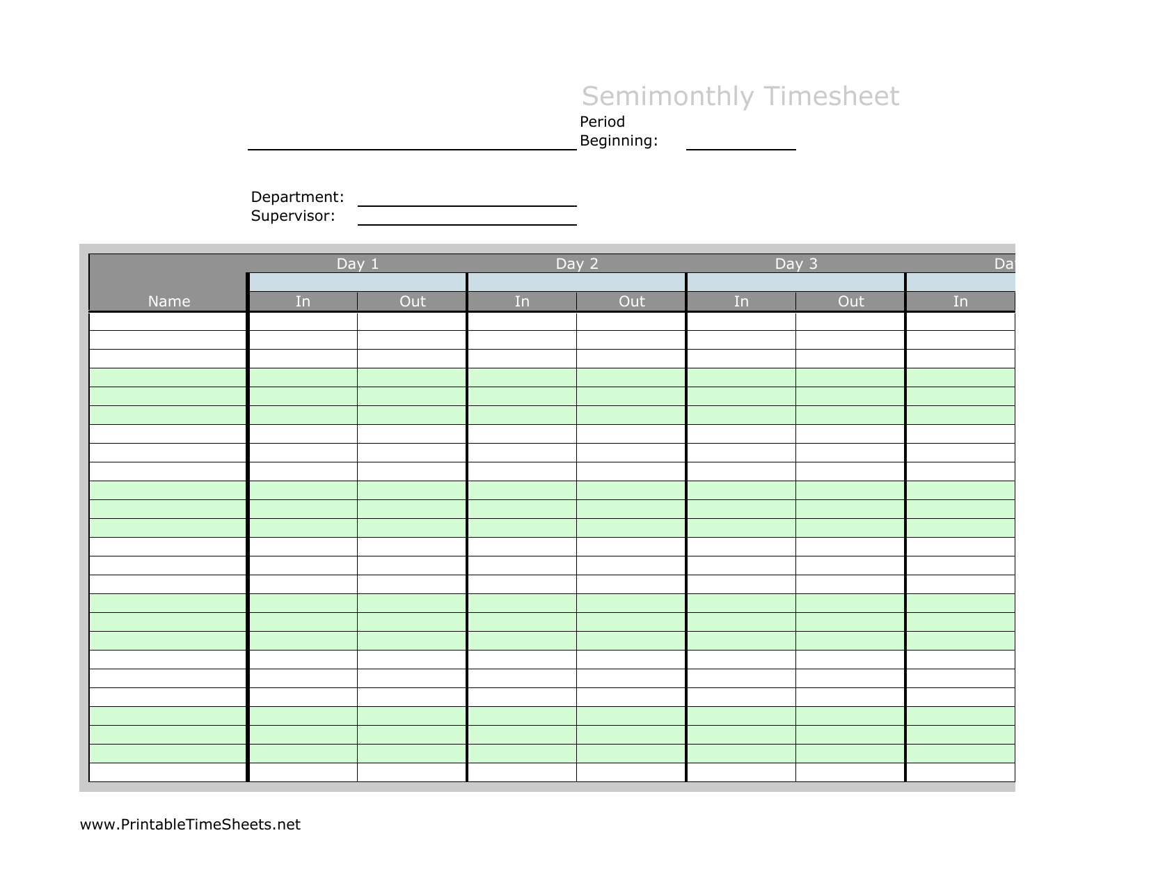 download semi month timesheet template excel pdf rtf word