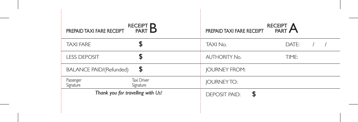 Download Prepaid Taxi Fare Receipt Template Pdf Freedownloads