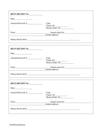 Monthly Rental Payment Receipt Template  Monthly Payment Template