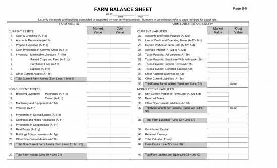 farm balance sheet template excel - download farm balance sheet template excel pdf rtf