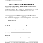 recurring payment authorization form