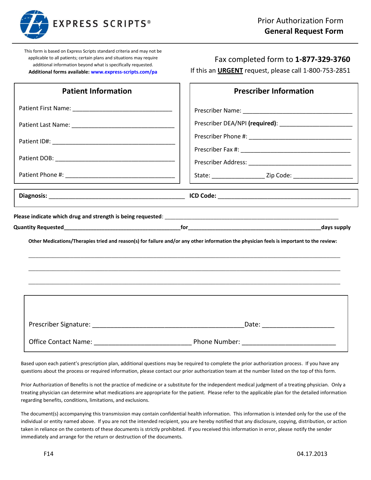 download express scripts prior authorization form