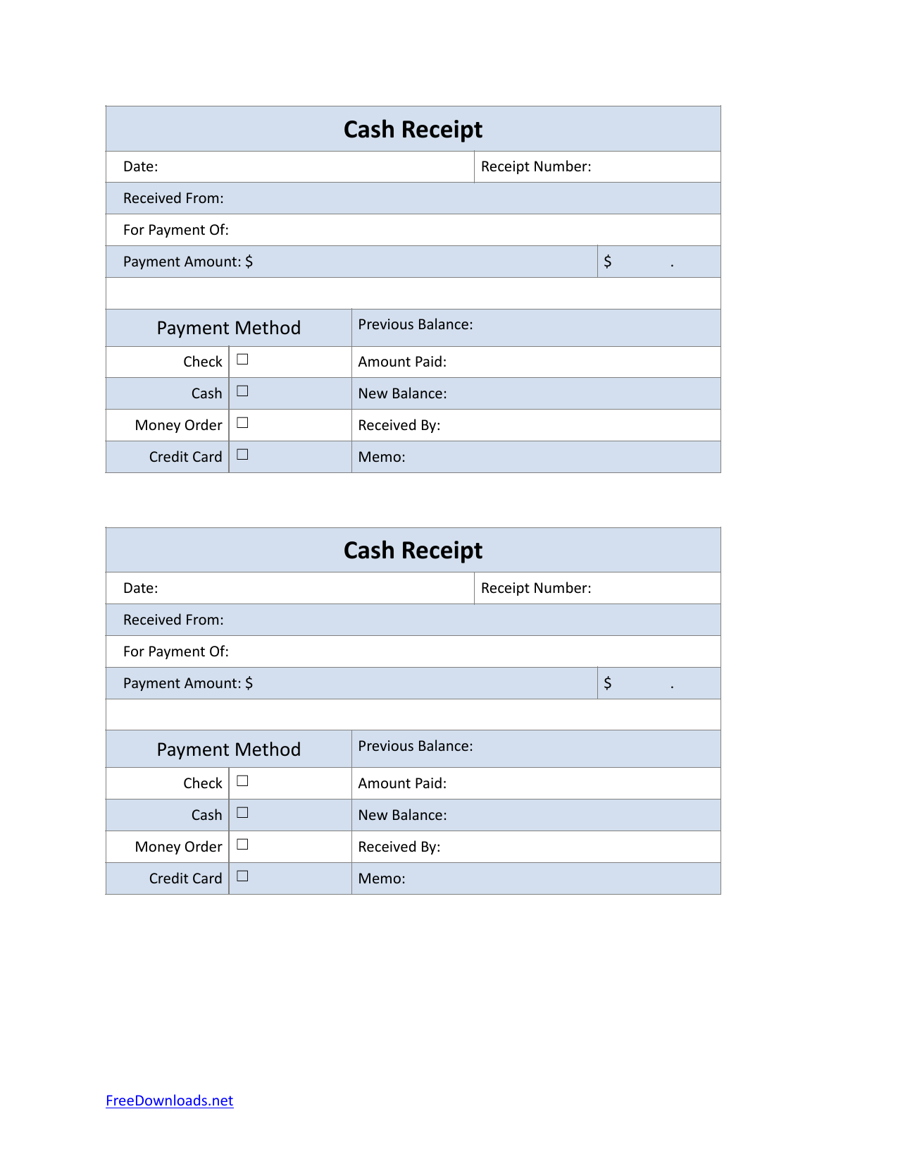 download petty cash sales receipt template