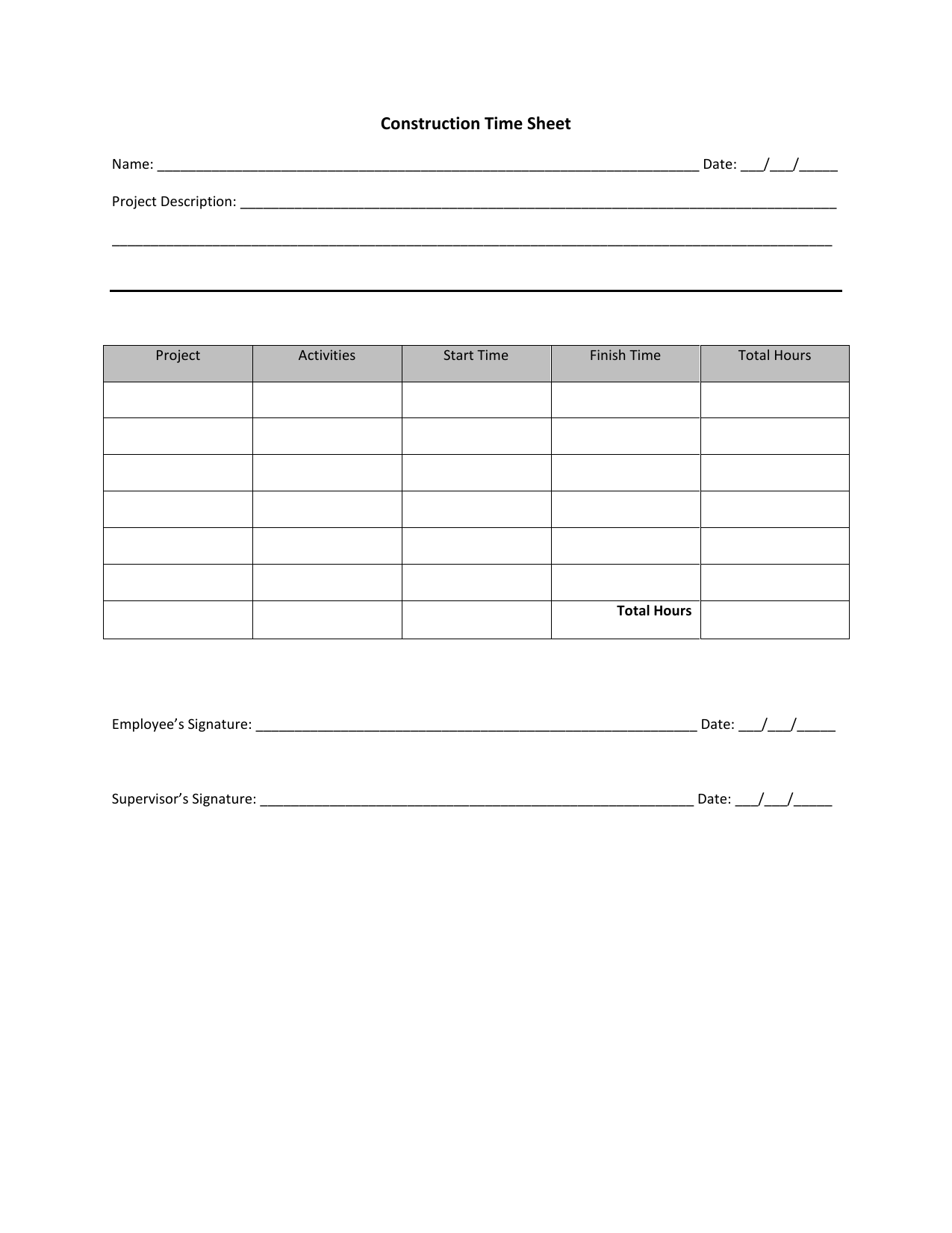 download construction timesheet template excel pdf rtf word