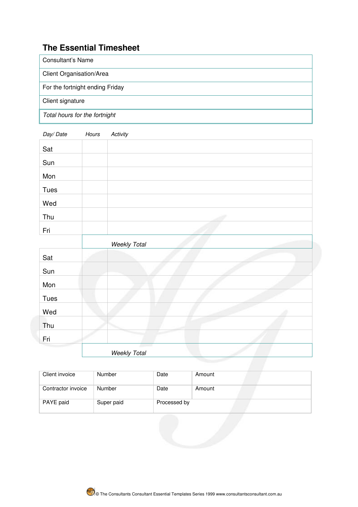 download consultant timesheet template excel pdf rtf word