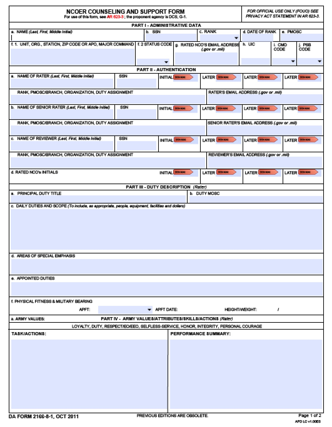 da2166_8_1 Army Ncoer Support Form Bullet Examples on new oer support form example, army soldier data sheet, 2166-8-1 example, army stop meal deductions 4187 example, continuity letter ncoer example, army warrant officer resume example, compassionate reassignment memo example, army apft badge memo example, army threat awareness reporting program, army promotion counseling example,