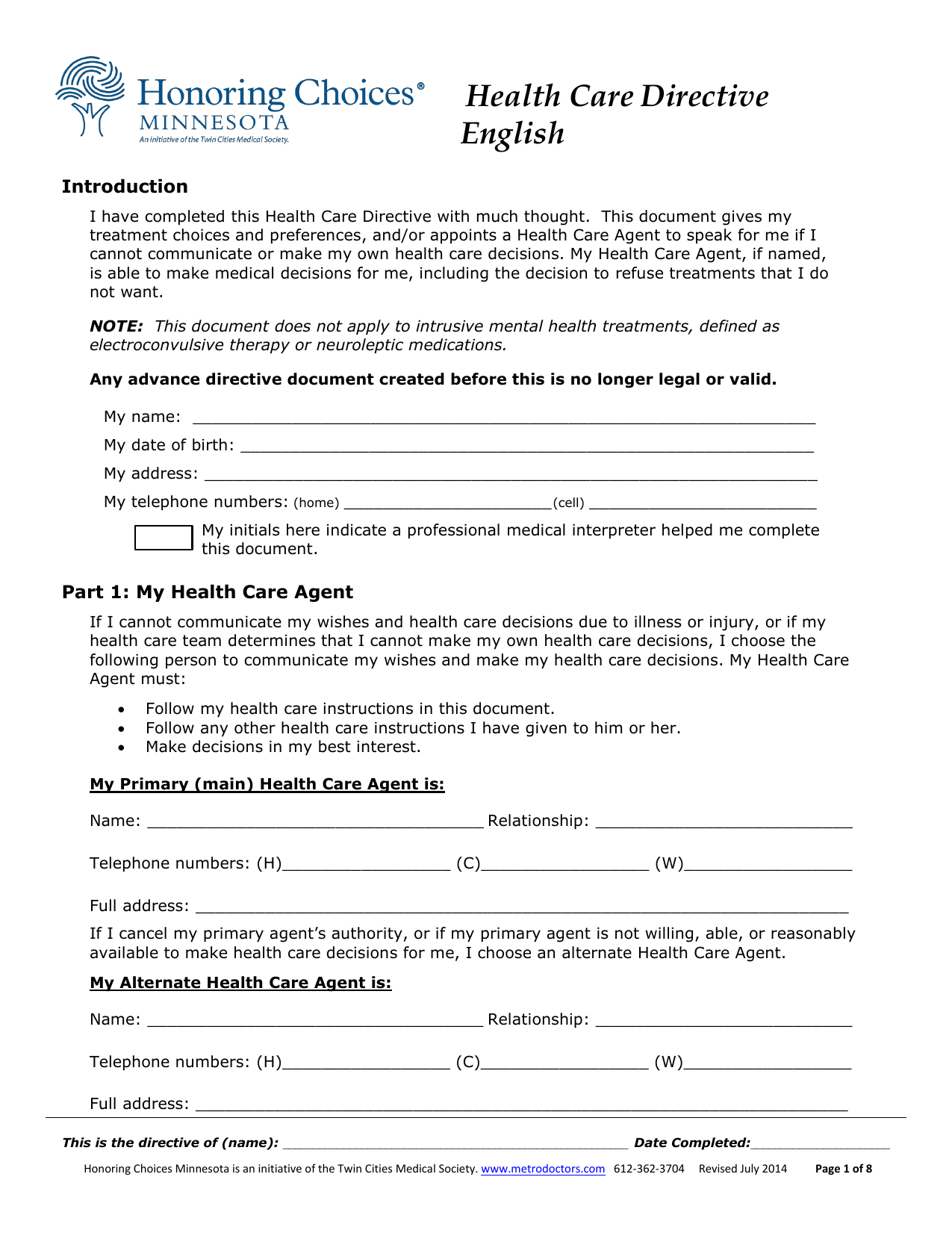 download minnesota living will form  u2013 advance directive