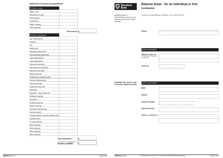 Download Bank Balance Sheet Template | Excel | PDF | RTF ...